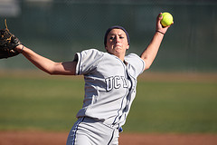 Softball Pitcher Stays Cool